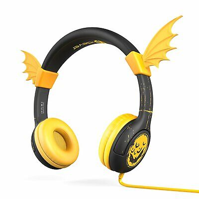 85db Volume Limiting Silicone Wing Wired Bat-Inspired Children's Ear Headsets