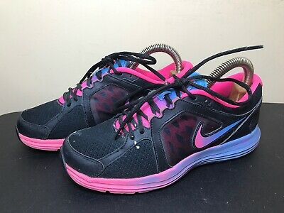 low priced 6230d 295d6 Nike Dual Fusion ST3 Running Athletic Womens Shoes Size 10 Eur 42 Black Pink  Blu