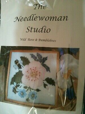 'Wild Rose and Bumblebees' Embroidery kit from Needlewoman Studio