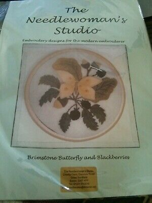 'Brimstone Butterfly' Embroidery kit from Needlewoman Studio