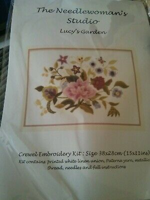 Lucy's Garden' a Crewel Embroidery kit from Needlewoman Studio