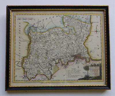A rare c1766 map of Middlesex by John Ellis – Framed