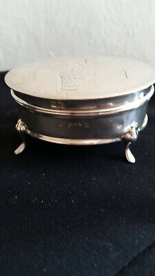 Antique Sterling Silver Ring/Trinket Box
