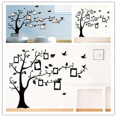 Vinyl Photo Frame Removable Home Decor Large Family Tree Wall Decal Sticker