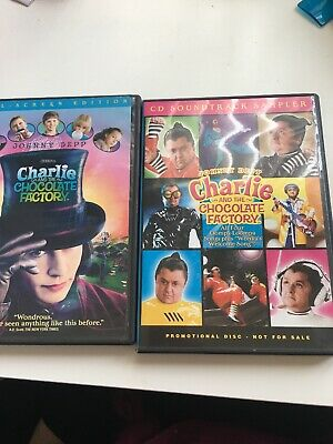 Charlie and the Chocolate Factory (DVD,2005, Full Frame) With Soundtrack Sampler