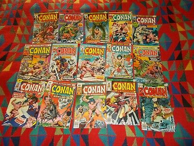 15 Marvel Bronze age Conan all colour comics