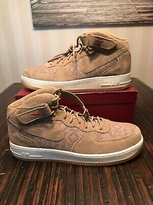the best attitude e3f36 ec09d Nike Air Force 1 Mid 07 Premium N7 Canteen Brown-Univ Red Sz 17