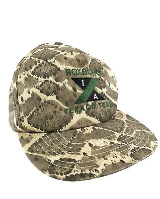 a850e4c8372d0 Vintage Trucker Hat Made in USA Rattle Snake Print Cap Snap back Texaco  Racing