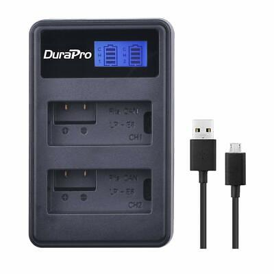 DuraPro LP-E8 LCD Dual USB Charger for Canon LP-E8 L-ion Battery,Canon EOS 700D