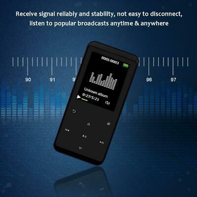 Lettore MP3 da 16 GB con Bluetooth 4.1, con registratore vocale FM Radio