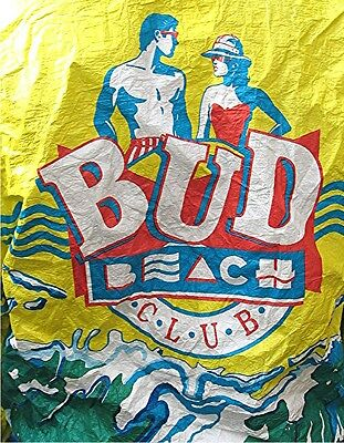 Vintage BUD Beach Club Advertising Windbreaker