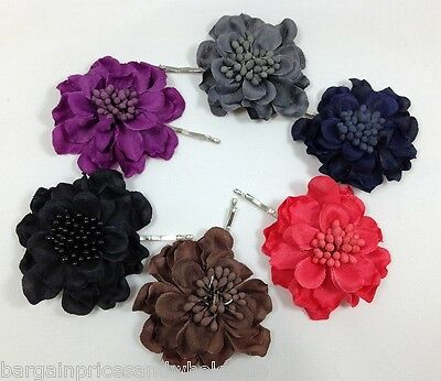 Flower Centre Beaded Hair Clip Grip Wedding Parties Great To use on head Scarf