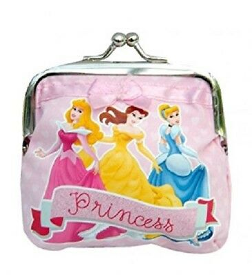 Disney Pink Princess Clip On Girls Purse Wallet Coin