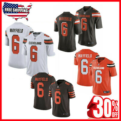 16cdf9670 Baker Mayfield  6 Cleveland Browns Men s Jersey Authentic stitched 4 Color  🔥
