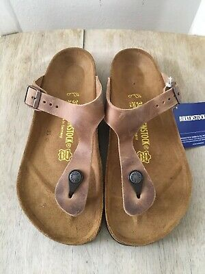 a828ecc347a BIRKENSTOCK GIZEH SANDALS Tobacco Brown Leather Women s Size 38 7 R ...