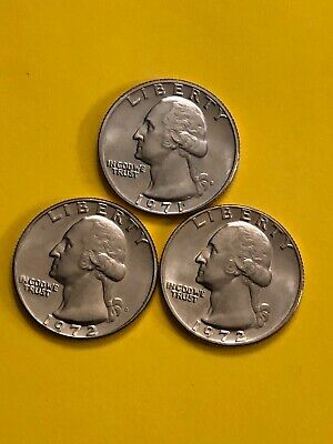 Quarter 1971D 1972Pd Uncirculated Free Shipping