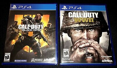 Call of Duty: Black Ops 4 & WWII WW2 Sony PlayStation 4 Video Game Bundle Lot