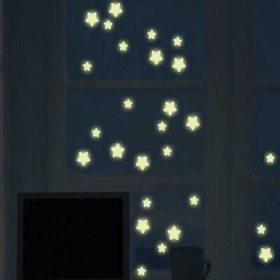 3D Stars Glow In The night Dark Wall Stickers Luminous Fluorescent Wall Y