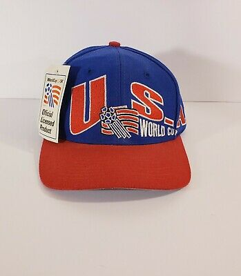 e4b192d4067085 NWT Vintage APEX U.S.A World Cup USA 94 1994 Soccer Snapback Hat Cap 90s Red