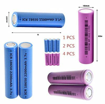 3.7V 18650 Lithium Battery 2200mah Large Capacity Rechargeable for Flashlight GD