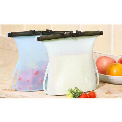 Food Fresh Bag Portable Silicone Sealed Containers Storage Bags for Kitchen