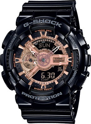 Casio G-Shock GA110MMC-1A Black/Rose Gold Shock Resistant Analog-Digital BNIB