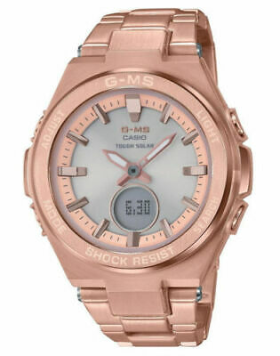 Casio G-MS MSG-S200DG-4A Solar Power Analog-Digital Rose Gold Brand New Withtags