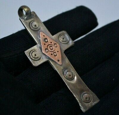 post medieval religious cross pendant to wear metal detecting detector find