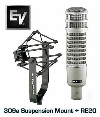 BRAND NEW Electro-Voice RE20 Broadcast Microphone Mic and 309A Shock Mount Combo