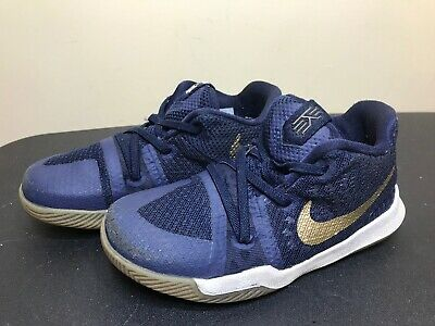 f0e58f4e28c3 Nike Kyrie Irving Kids Toddler Baby Shoes Size 10 C Eur 27 Navy Blue Gold