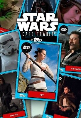 Topps DIGITAL Star Wars Card Trader - U-Pick ANY 9 from Account