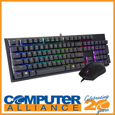 Cooler Master MasterSet MS121 Combo RGB Keyboard and Mouse PN MS-121-KKMF1-US