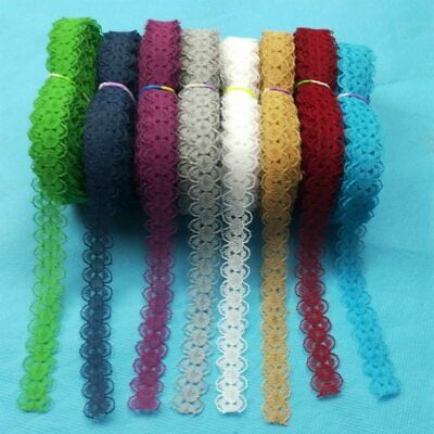 10 Yards/Lot Ribbon Tape 14MM Lace Trim DIY Embroidered Sewing Decor