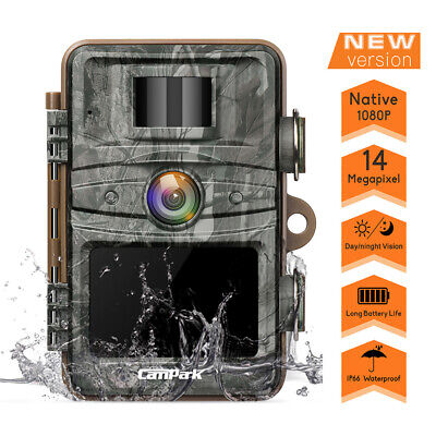 Campark WildGame Trail Camera 14MP FHD 1080P Hunting Cam No Glow IR Night Vision