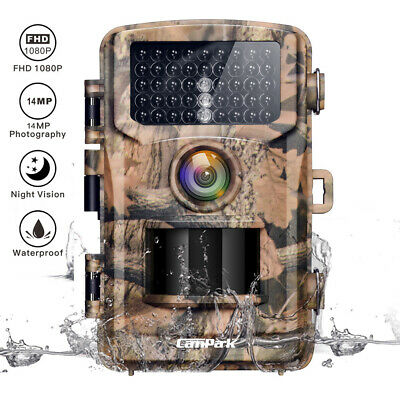 Campark 14MP Trail Camera 1080P Infrared Night Vision Game Wildlife Hunting Cam