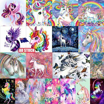 Unicorn 5D Diamond Painting Embroidery Cross Craft Stitch Art Kit Home Decor RU
