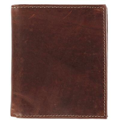 New CTM Men's Oil Pull Up Leather Hipster Bifold Wallet