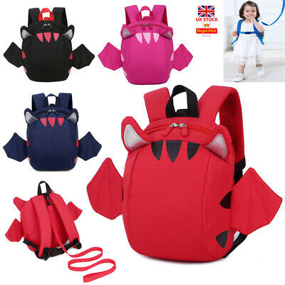 Cartoon Baby Toddler Kids Wing Safety Harness Strap Bag Backpack With Reins Gift