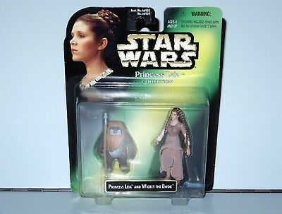 Star Wars Princess Leia Collection Wicket The Ewok 2-Pack Mosc Moc 1998 Kenner