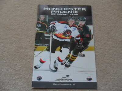 M/CR PHOENIX v BASINGSTOKE BISON,2004, ICE HOCKEY PROGRAMME.VERY GOOD CONDITION