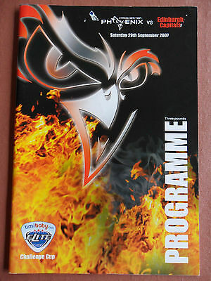 M/CR PHOENIX v EDINBURGH CAPITALS,2007 ICE HOCKEY PROGRAMME.VERY GOOD CONDITION