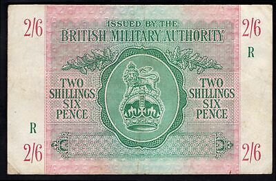 GB Military; British Military Authority. 2 shillings & 6 pence. Greece. (1943...