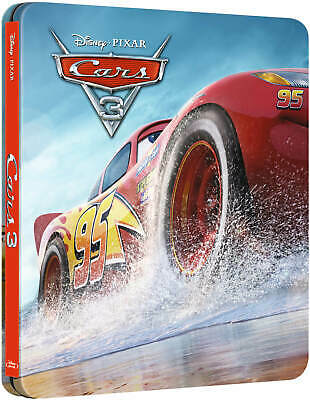 Cars 3 - Steelbook - Zavvi - Bluray + 3D - NEUF/NEW