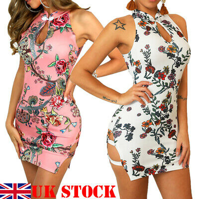 Womens Ladies Bandage Bodycon Evening Party Cocktail Club Midi Dress UK STOCK