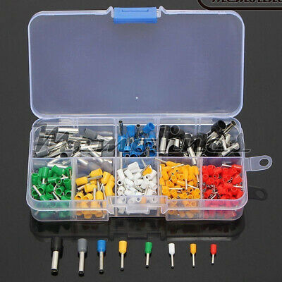 400PCS Wire Copper Crimp Connector Insulated Cord Pin End Terminal Kits Set