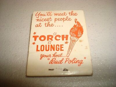 Rare Vintage Matches Torch Lounge Buckham Alley Flint MI USA Original!