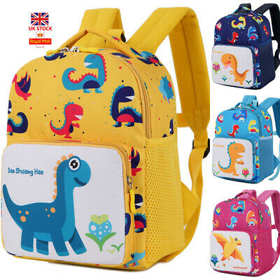 Baby Kids Cartoon Toddler Dinosaur Safety Harness Strap Bag Backpack Reins B17