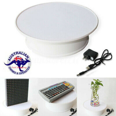 20cm Motorized Rotating Display Stand Jewelry Turntable Electric 360° Loading AU
