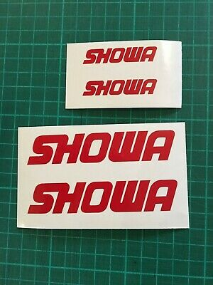 Showa small Decals Stickers 50mm / 100mm GP RR R6 R1 YZF RM YZ MotoX