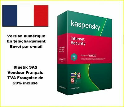 Kaspersky Internet Security Multidevice 2020 - 1 App 1 An Licence par mail - ESD